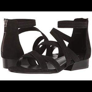 Eileen Fisher Eva Nubuck Strappy Sandals